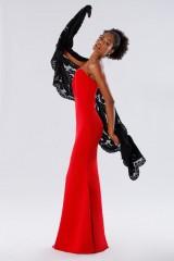Drexcode - Red one-shoulder mermaid dress - Rhea Costa - Rent - 6
