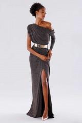 Drexcode - Long dress with glitter - Rhea Costa - Sale - 4
