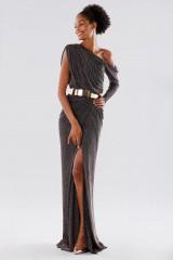 Drexcode - Long dress with glitter - Rhea Costa - Sale - 6