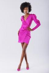 Drexcode - Short fuchsia dress - Rhea Costa - Rent - 1