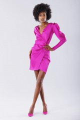 Drexcode - Short fuchsia dress  - Rhea Costa - Sale - 1