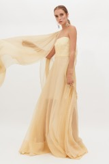 Drexcode - Ivory bustier dress - Rochas - Sale - 2