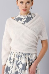 Drexcode - Cashmere stole with sleeve - Alberta Ferretti - Rent - 1