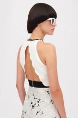 Drexcode - Crepe and jacquard dress with metal belt - Giambattista Valli - Rent - 2
