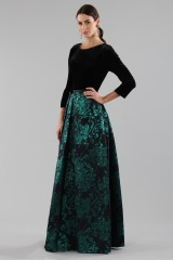 Drexcode - Dress with long sleeves and brocaded skirt - Theia - Rent - 3
