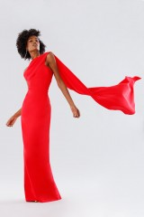 Drexcode - One-shoulder red dress with drapery - Tot-Hom - Rent - 4