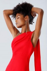 Drexcode - One-shoulder red dress with drapery - Tot-Hom - Sale - 6