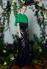 Drexcode - Floor-length silk skirt with pattern in contrast - Vionnet - Rent - 3