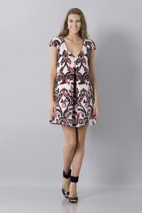 Brocade patterned dress - Albino - Sale Drexcode - 2