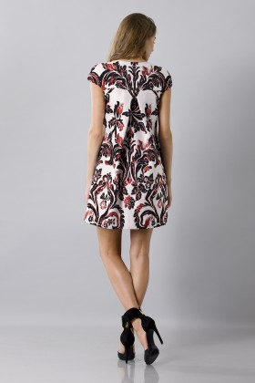 Brocade patterned dress - Albino - Rent Drexcode - 2