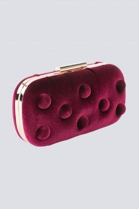 Burgundy velvet clutch - Anna Cecere - Sale Drexcode - 2