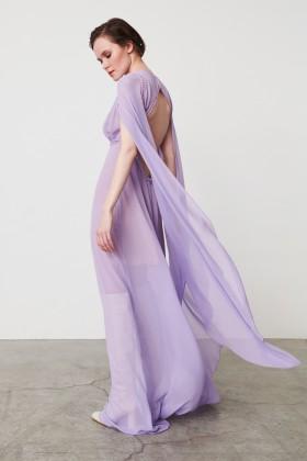Abito lungo lilla con manica svasata - Kathy Heyndels - Sale Drexcode - 1