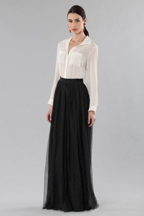 Long tulle skirt with embroidered polka dots - Needle&Thread - Rent Drexcode - 2