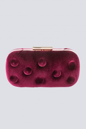 Burgundy velvet clutch - Anna Cecere - Sale Drexcode - 1