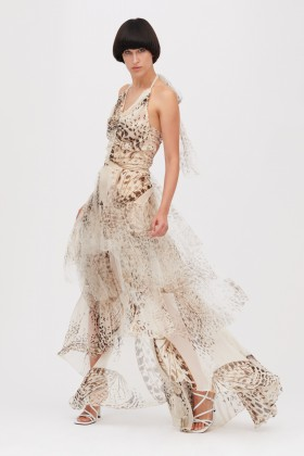 Animalier silk dress  - Blumarine - Rent Drexcode - 1