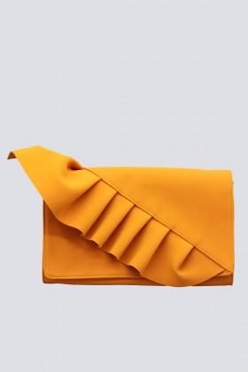Clutch arancione con volant - Chiara Boni - Rent Drexcode - 1