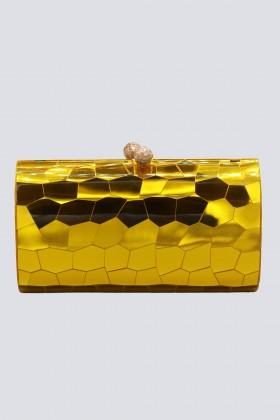 Clutch gialla geometrica - Serpui - Rent Drexcode - 1