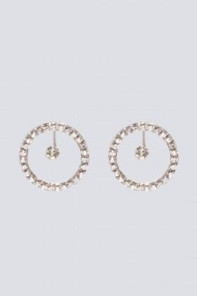 Orecchini a cerchio con cristalli - CA&LOU - Rent Drexcode - 2
