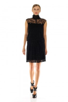 Lace dress with turtleneck - Nina Ricci - Sale Drexcode - 1