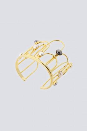 Bracciale in ottone e vetro - Sharra Pagano - Rent Drexcode - 1