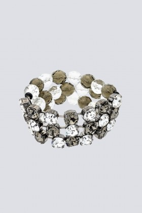 Bracciale in metallo e strass - Sharra Pagano - Sale Drexcode - 1