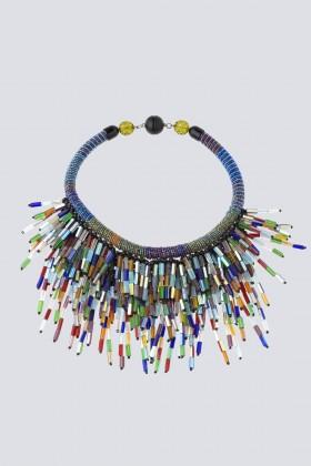 Collana multicolor in vetro e cristalli - Sharra Pagano - Sale Drexcode - 2