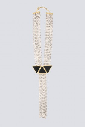 Collana pendente in strass e resina - Sharra Pagano - Sale Drexcode - 1