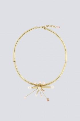 Collana in metallo, swarovski e perle in resina - Sharra Pagano - Rent Drexcode - 1