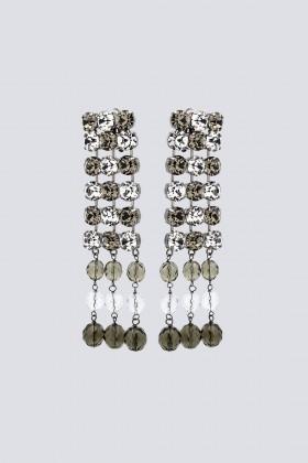 Orecchini in metallo e strass - Sharra Pagano - Rent Drexcode - 1