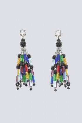 Orecchini multicolor in vetro e cristalli - Sharra Pagano - Rent Drexcode - 1