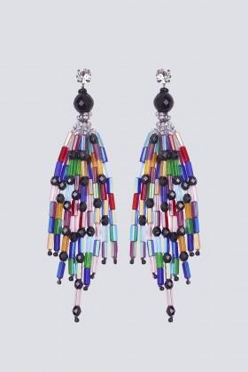 Orecchini pendenti multicolor - Sharra Pagano - Rent Drexcode - 1
