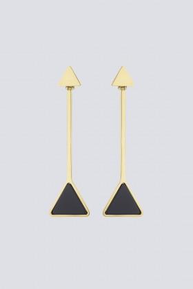 Orecchini in metallo e resina - Sharra Pagano - Sale Drexcode - 1