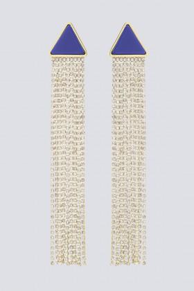 Orecchini pendenti in strass e resina - Sharra Pagano - Rent Drexcode - 1