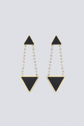 Orecchini triangolo in strass e resina - Sharra Pagano - Sale Drexcode - 2