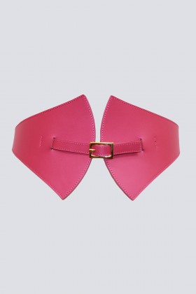 Cintura in pelle magenta - Maison Vaincourt - Sale Drexcode - 1