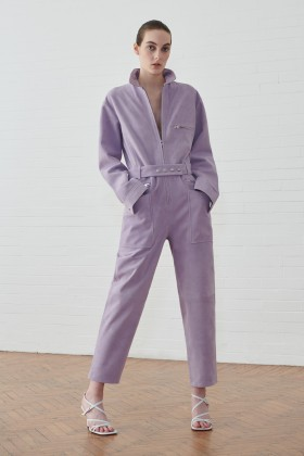 Jumpsuit lilla in suede - IRO - Rent Drexcode - 1
