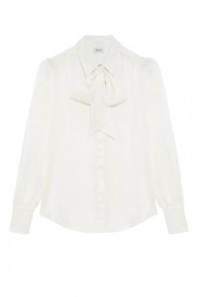 Camicia bianca in seta con fiocco - Redemption - Sale Drexcode - 2