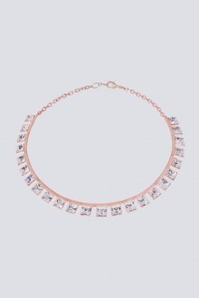 Collana con finiture oro rosa - CA&LOU - Rent Drexcode - 2