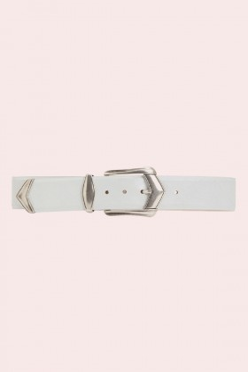 Cintura bianca con fibbia invecchiata - IRO - Sale Drexcode - 1