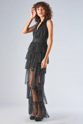 Asymmetric polka dot dress with ruffles - Forever unique - Sale Drexcode - 1