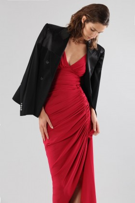 Asymmetric draped dress - Chiara Boni - Rent Drexcode - 1