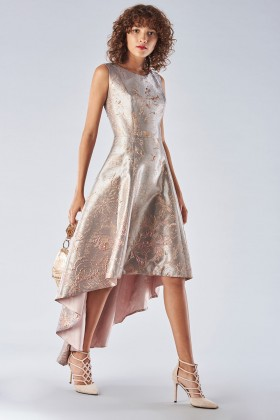 Short dress in metallic cloque - Fely Campo - Rent Drexcode - 1