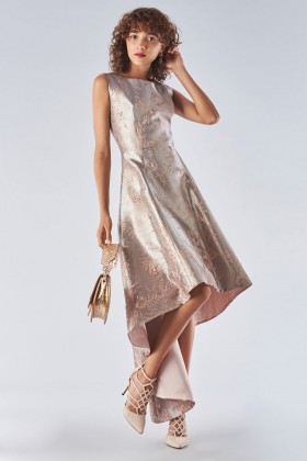 Short dress in metallic cloque - Fely Campo - Rent Drexcode - 2