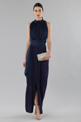 Shirtdress  with draped silk tulle  - Vionnet - Rent Drexcode - 2