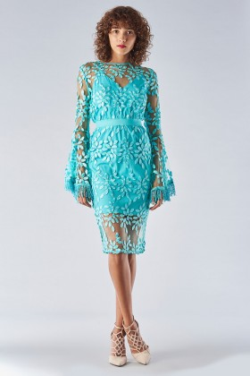 Dress with bell sleeves and relief decoration - Forever unique - Rent Drexcode - 2