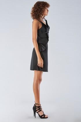 Short black dress with shoulder strap - Amur - Rent Drexcode - 1