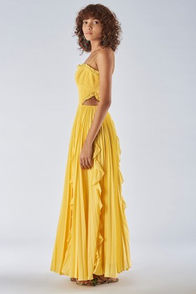 Yellow dress with side cuts - Amur - Rent Drexcode - 2