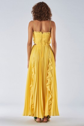 Yellow dress with side cuts - Amur - Rent Drexcode - 1