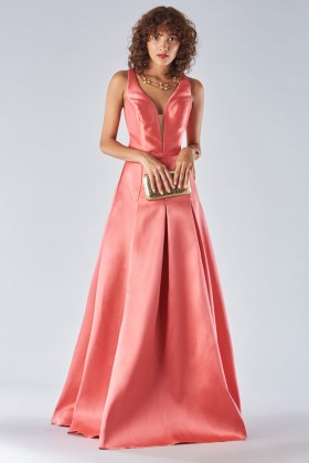 Satin dress with structured bodice - Forever unique - Rent Drexcode - 1