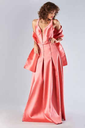 Satin dress with structured bodice - Forever unique - Rent Drexcode - 2